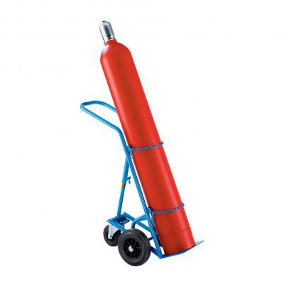 PAUWELS flessenwagen 1 x gasfles 20L/50L - vast steunwiel